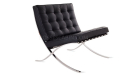 barcelona chair in black leather