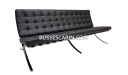 modern three seater office sofa in barcelona chair style
