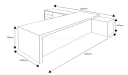 10 feet width office table shop drawing