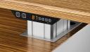 zebra veneer office table top with digital height adjustment control panel