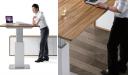 office desk in zebra veneer with height adjustable function