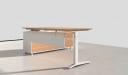 office desk with side cabinet in light oak