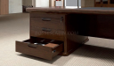 classic office table with three drawer pedestal