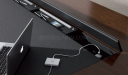 office table with concealed wire management panel on desk top