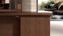traditional office table in walnut veneer finish