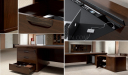 Royale traditional office table features
