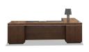 8 feet width office table in walnut veneer