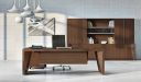 office cabin with large office table with rear cabinet