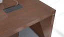 office table top in walnut veneer with wire box