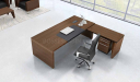 top view of 9 feet office table with side return