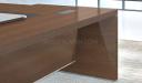 9 feet office table in walnut veneer finish