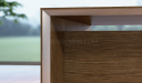 wenge veneer finish table top and modesty panel