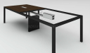 10 seater meeting table with steel frame