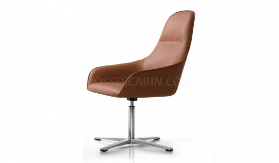 Coach Revolving Lounge Chair In Tan Leather Boss S Cabin