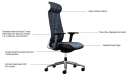 vich high back office chair specifications