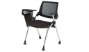 training chair with castors and writing pad in chrome finish