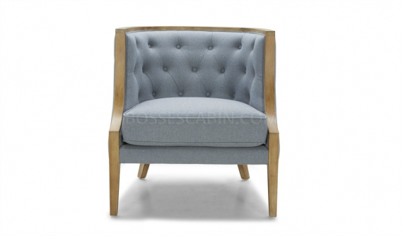 classic arm chair in wood and fabric