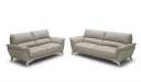 3 and 2 seater office sofa in beige leather