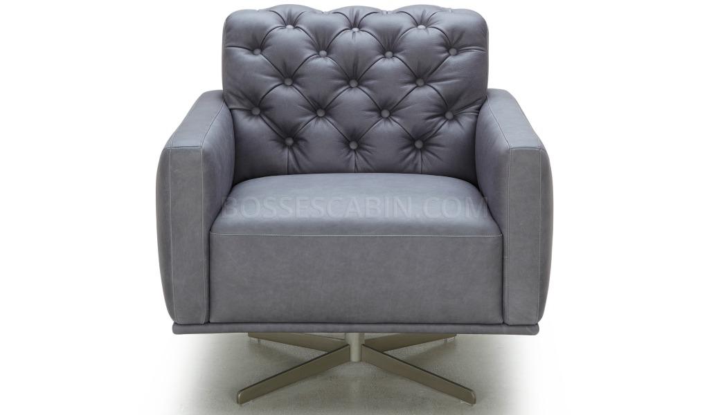 Fantastic Skye Lounge Chair In Leather With Tufted Back Inzonedesignstudio Interior Chair Design Inzonedesignstudiocom