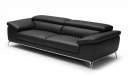 three seater office sofa in leather