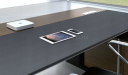 leather clad office table top