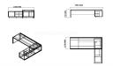 shop drawing of Mary 10 feet office table