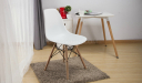 multi-purpose DSW cafeteria chair with table