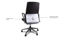 medium back leather office chair with adjustable lumbar support