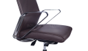 sleek leather office chair with steel arms