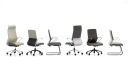 'Hero' Medium Back Office Chair In Leather