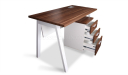 small office desk with three drawer mobile pedestal
