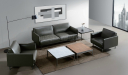 office cabin with two seater and single seater sofa in premium leather
