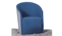 blue cashmere fabric arm chair