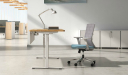 office with height adjustable desk and chair