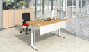 office cabin with motorized height adjustable desk