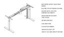 Motorized height adjustable desk shop drawing