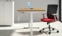 height adjustable office desk close up view