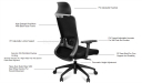 high back office chair features