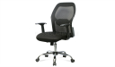 black medium back computer chair in mesh