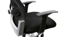 black computer chair arms and backrest