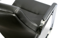 black leather visitors chair with a perfect finish