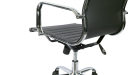 eams office chair with stainless steel arms