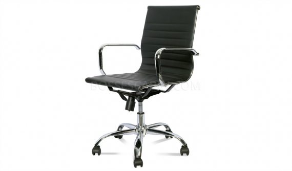 eams office chair reproduction with steel arms
