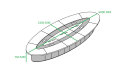 20 feet oval shape meeting table size diagram