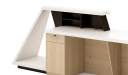 'Zefir' 9 Feet Reception Table In Glossy White