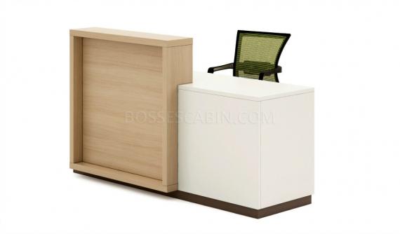 6 feet reception desk in light oak