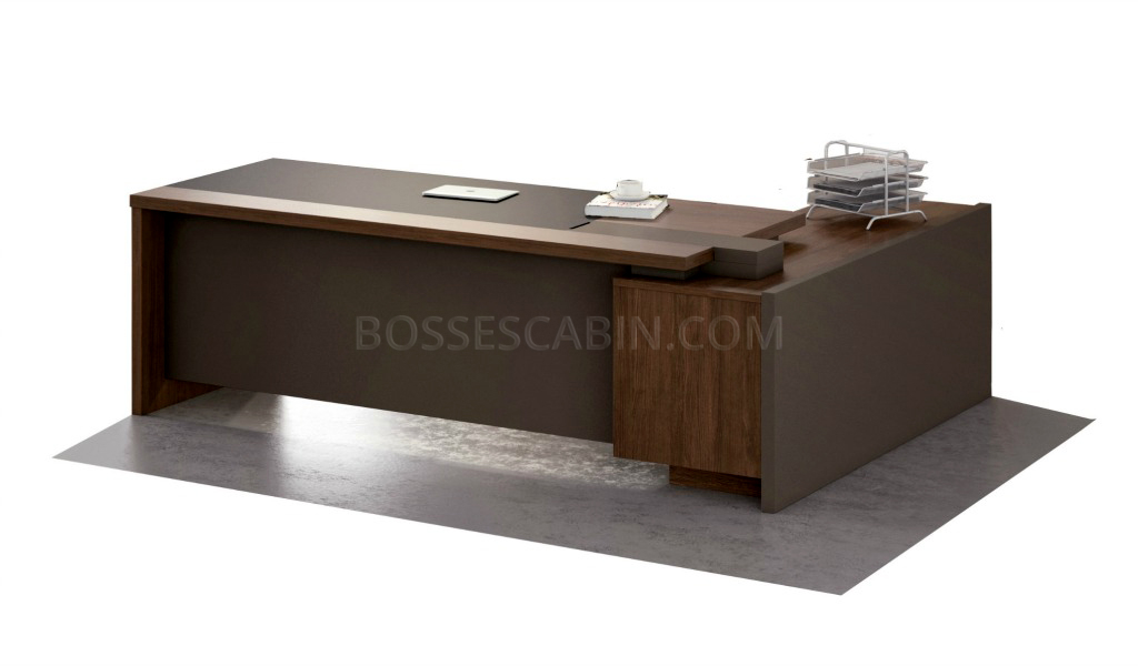 7 Feet Office Desk In Walnut Best