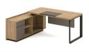 office table in light oak laminate finish