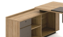 office table with side cabinet