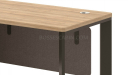 small office desk with light wood top